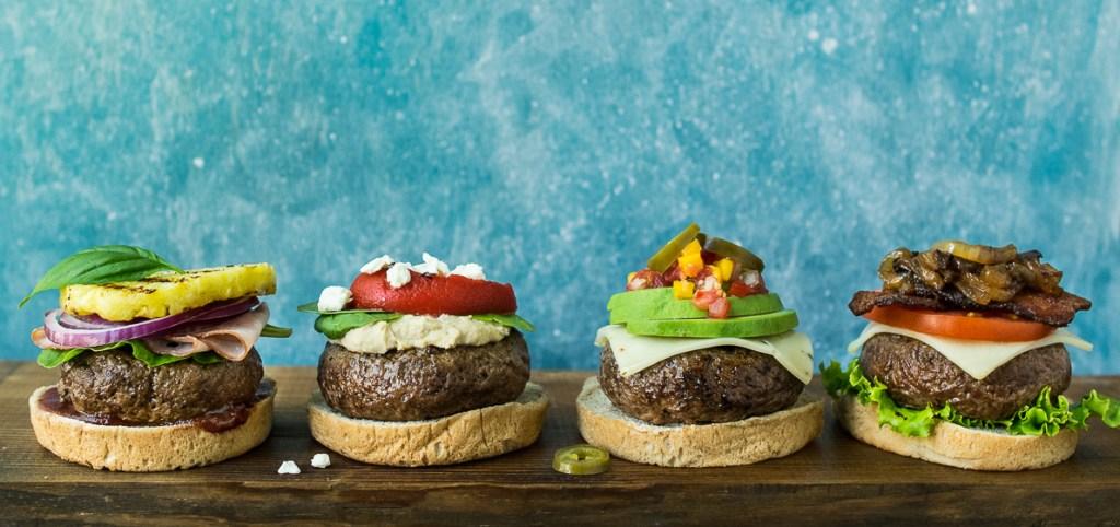 Grass Fed Burgers 4 Ways Horizontal_