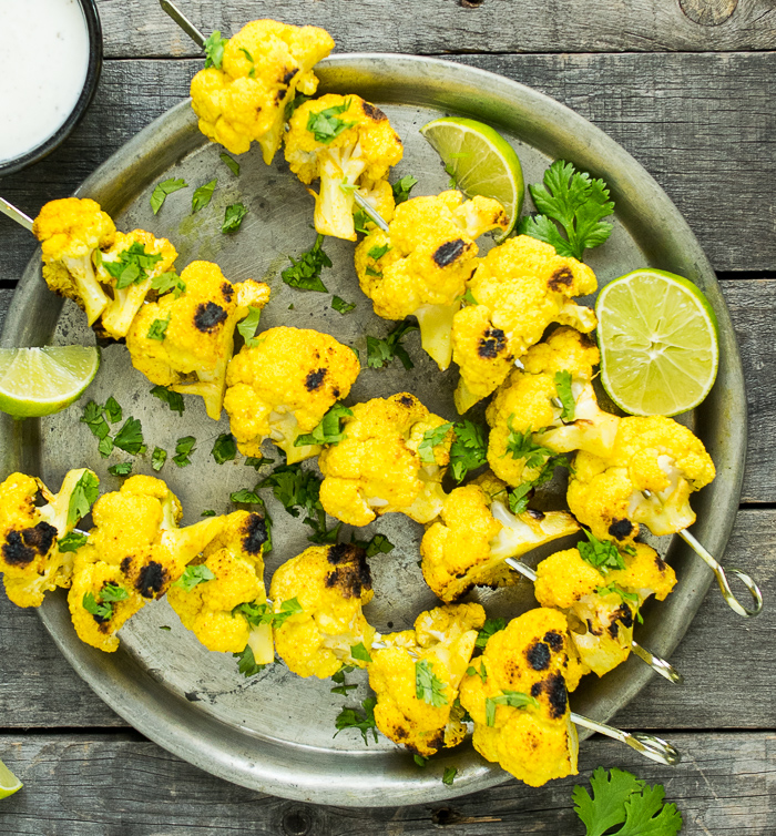 Grilled Turmeric Cauliflower