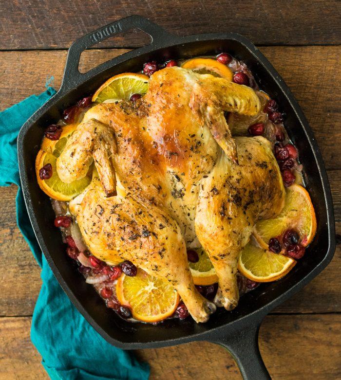 orange cranberry spatchcock chicken | Reclaiming Yesterday