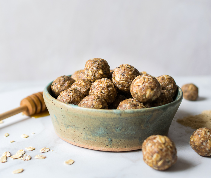 Maca and Almond Butter Energy Bites | Reclaiming Yesterday