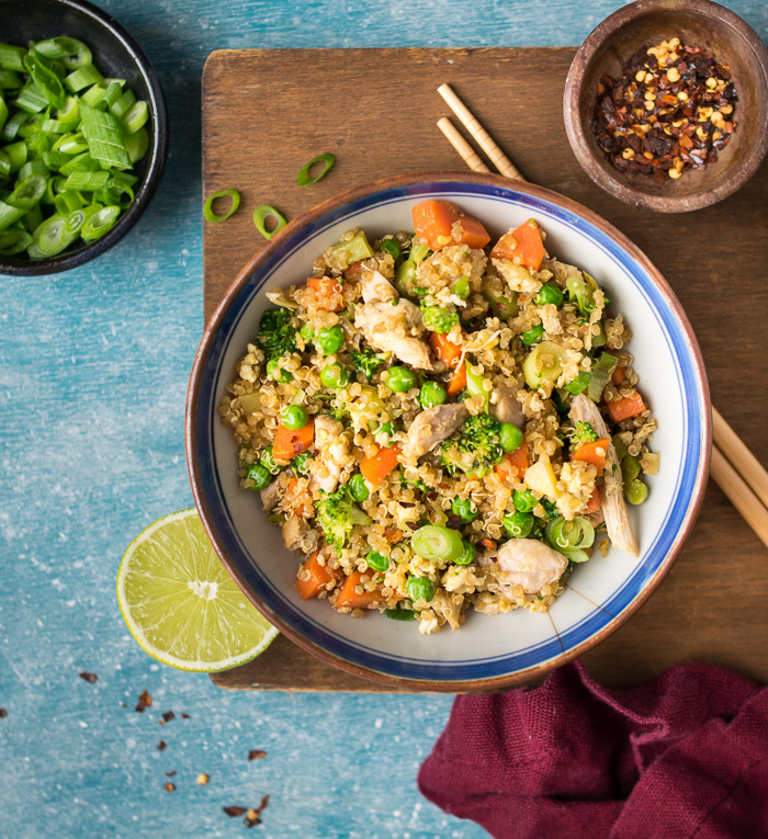 Quinoa Fried Rice with Chicken   Reclaiming Yesterday