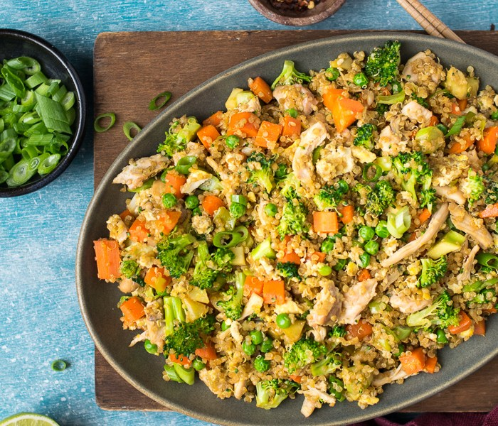 Fried Quinoa with Chicken | Reclaiming Yesterday