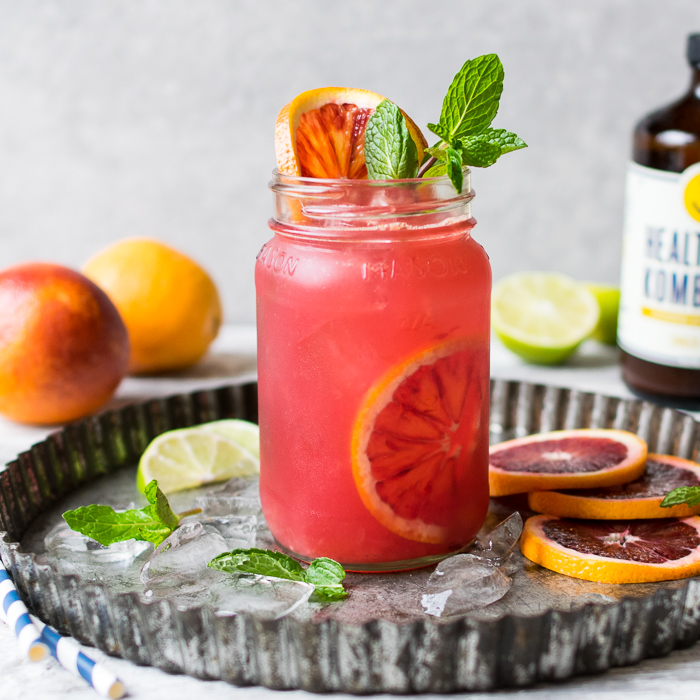 Blood Orange Kombucha Spritzers