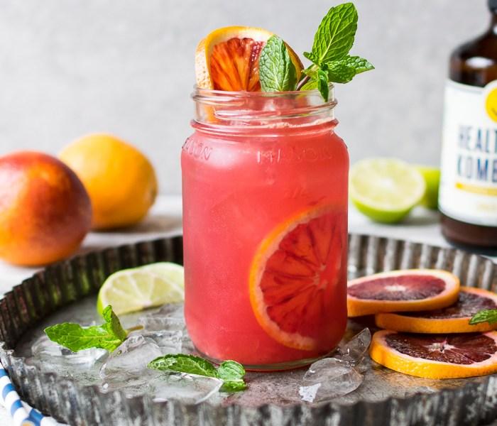 Blood Orange Kombucha Spritzers | Reclaiming Yesterday