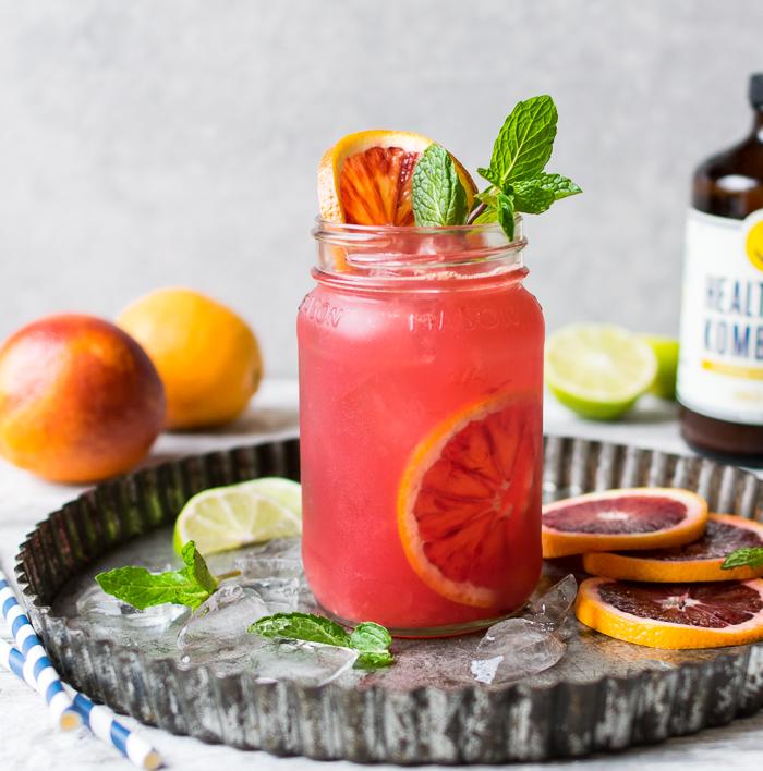 Blood Orange Kombucha Spritzer | Reclaiming Yesterday