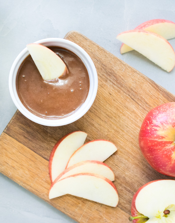 Chocolate Tahini Dip with Apples | Reclaiming Yesterday