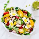 Mediterranean Salad with Basil Vinaigrette | Reclaiming Yesterday