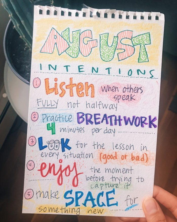 August Intentions | Reclaiming Yesterday