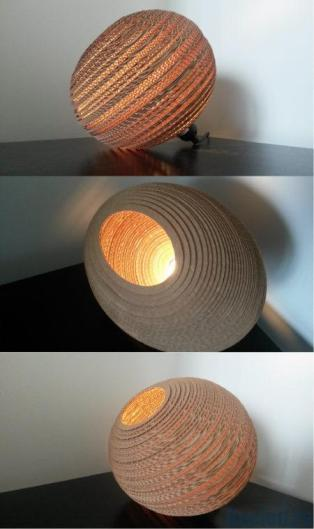 #corrugated #cardboard #lamp ellips 1