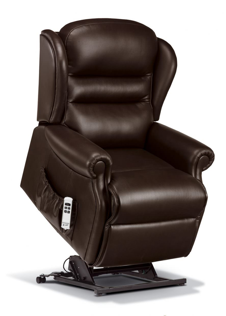Sherborne Standard Ashford Leather Rise  Recliner Chairs