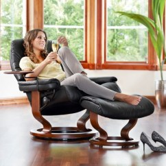 Stressless Chairs Reviews Step2 Table And Set Sunrise Classic Recliner Ottoman From 2 295 00 By Usd
