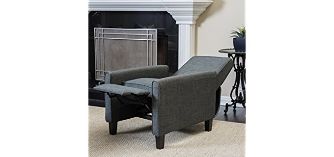 reclining club chair hanging porch chairs recliners february 2019 recliner time christopher knight home fabric covered