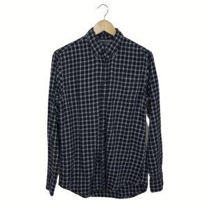 Camisa aos quadrados azul e cinza - reCloset roupa em segunda mão