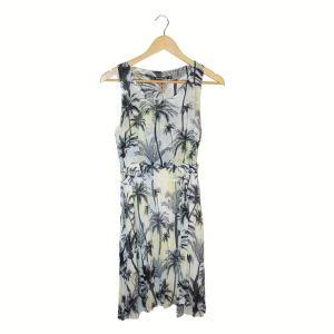 Vestido com padrão palmeiras   reCloset roupa em segunda mão