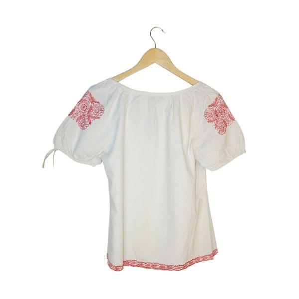 Camisa com bordados rosa | reCloset roupa em segunda mão