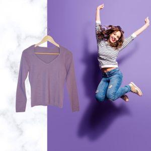 Camisola lilás | reCloset roupa em segunda mão