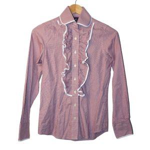 Camisa bordeaux com folho - reCloset roupa em segunda mão