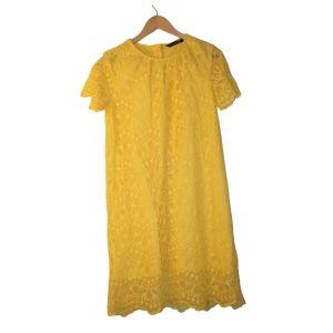Vestido amarelo em renda - reCloset roupa em segunda mão