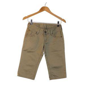 Calções compridos verdes - reCloset roupa em segunda mão