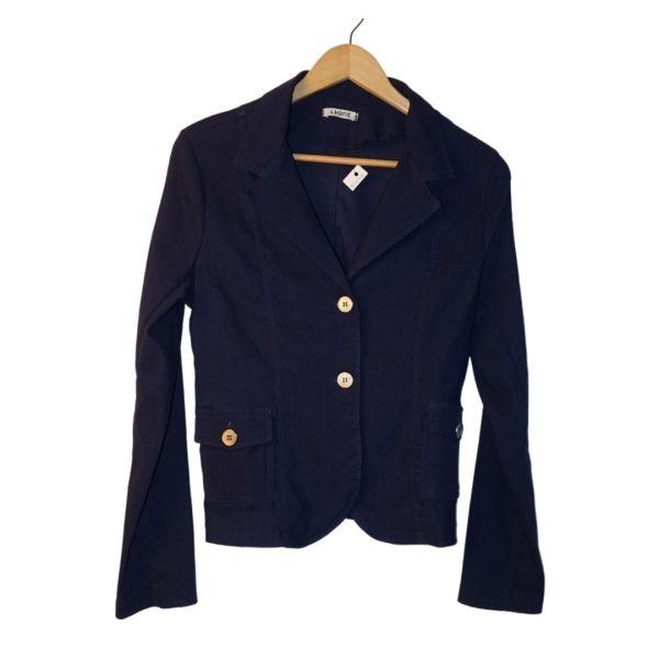 Casaco blazer azul escuro e botões prateados - reCloset roupa em segunda mão
