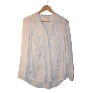 Blusa branca de manga comprida - reCloset roupa em segunda mão