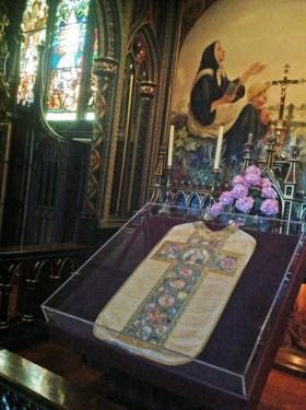 Chasuble brodée attribuée à Jeanne Le Ber