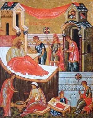 Icône de l'école de Novgorod peinte au XVe et XVIe siècles