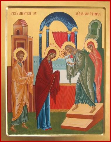 Présentation de Jésus au Temple-Icône sr Jacqueline