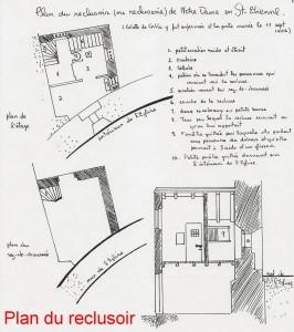 Plan du reclusoir de sainte Colette