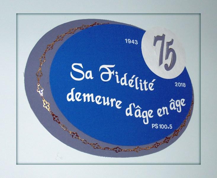 Logo du 75e de fondation