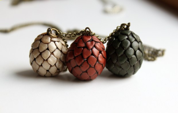 Dragon Eggs Game of Thrones Necklace by Symbelmyne