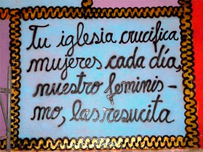 Detalle Mural Mujeres Creando Bienal Bolívia 2016