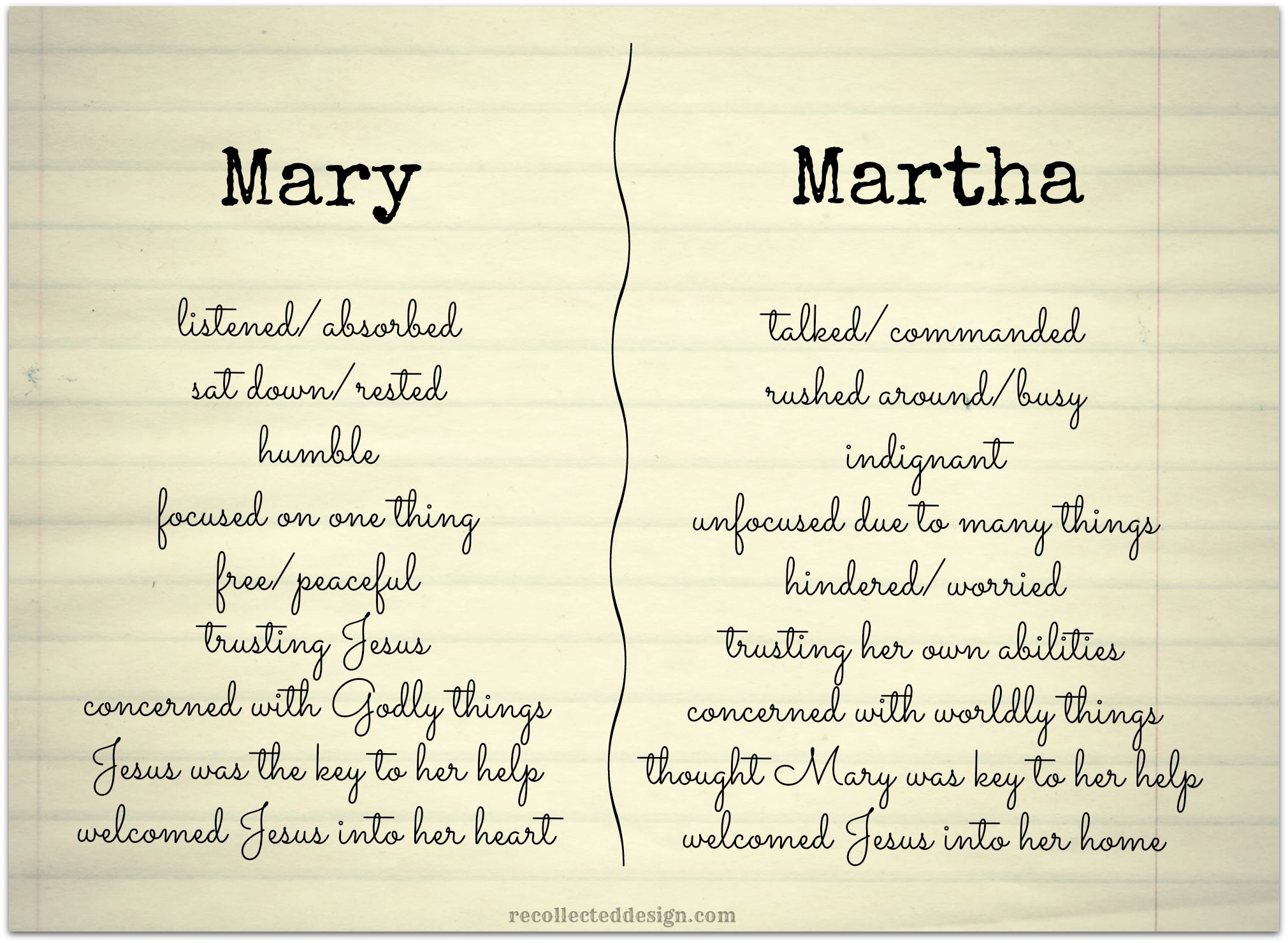How To Be A Mary In A Martha World