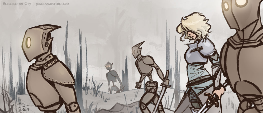 Valeska and automatons