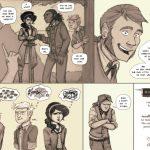 Website launch comic