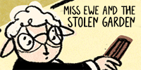 Miss Ewe comic button