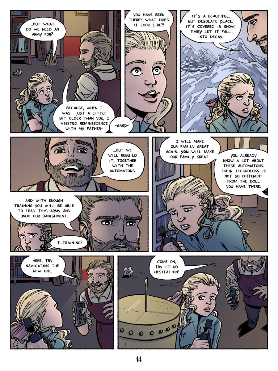 Page 14, ruins and more plotting