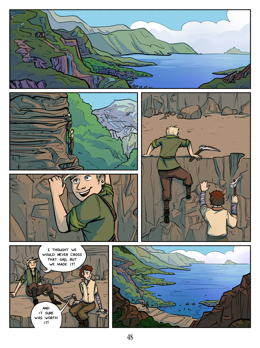 Recollection City page 48 - The mountains of Aquaris