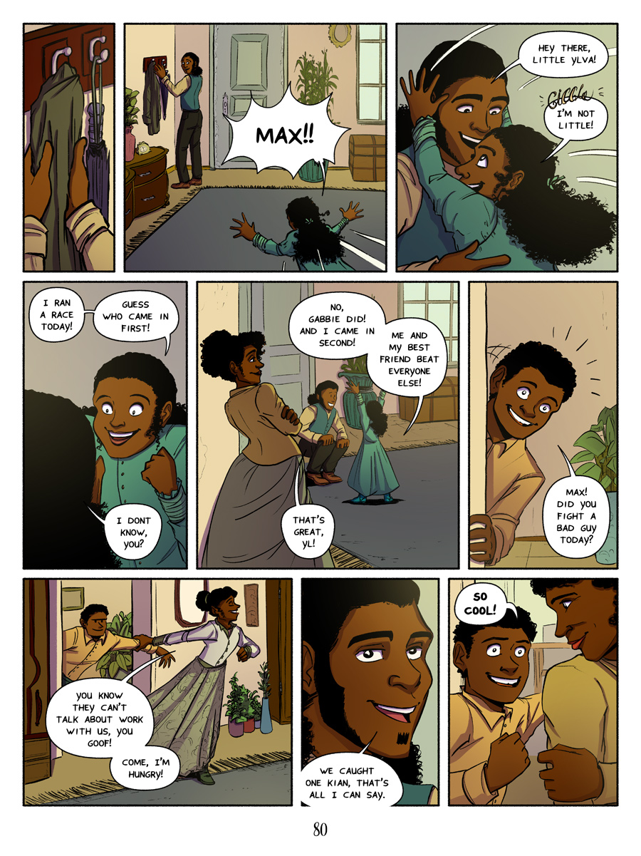 Recollection City page 80; Max' family
