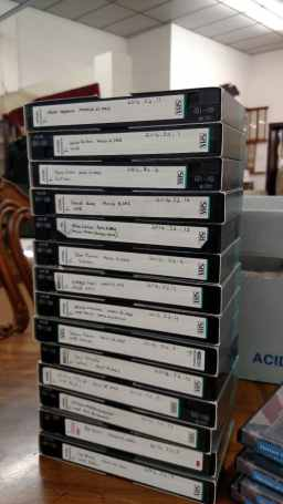 VHS tapes at TCHS