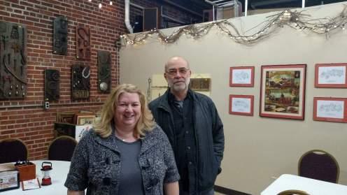 Sara (TCHS President) and Craig (TCHS volunteer)