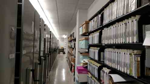 The archives stacks