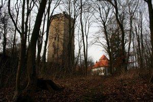 Die Burg und Kirche des Wohldenberges.