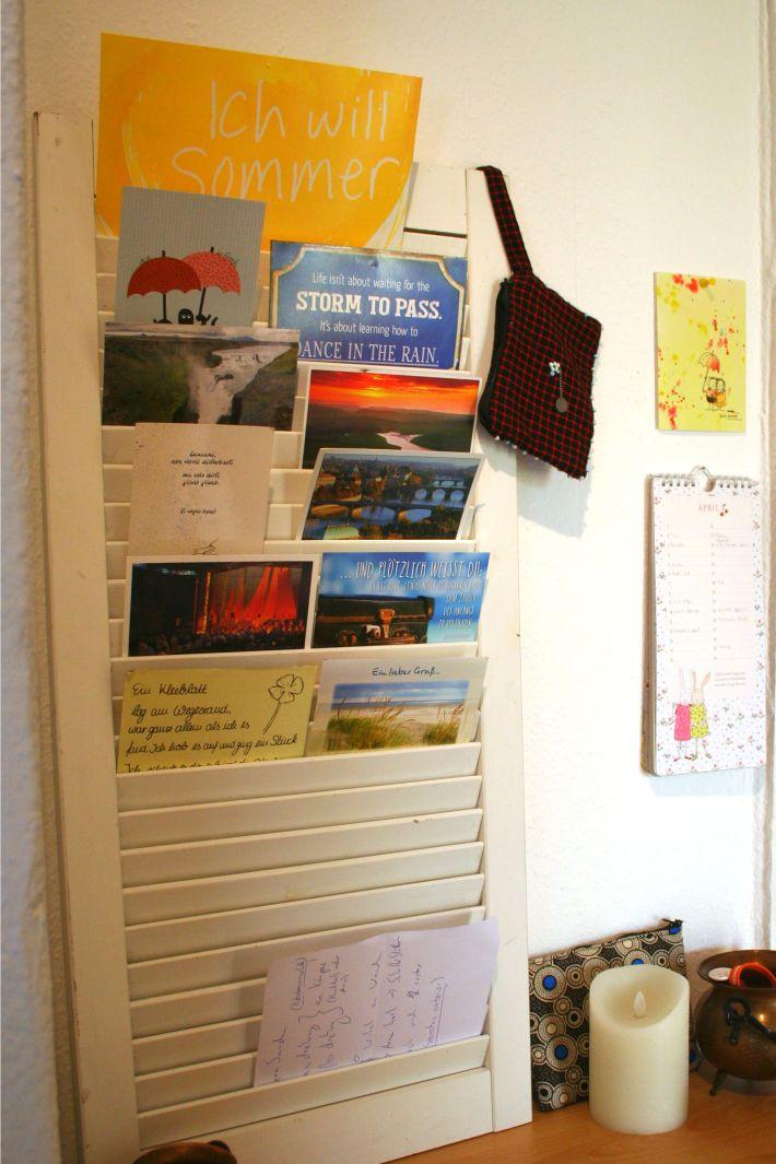 Ich liebe meine Postkartensammlung.