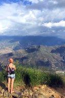 Ich beim Ausblick über den Canyon.