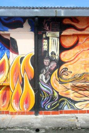 Flammen, Angst und Zerstörung.