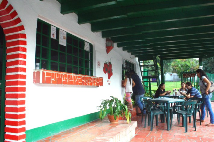 La Casita Chica Fresa - dort bekommt man die Leckerei.