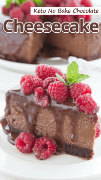 Keto No Bake Chocolate Cheesecake