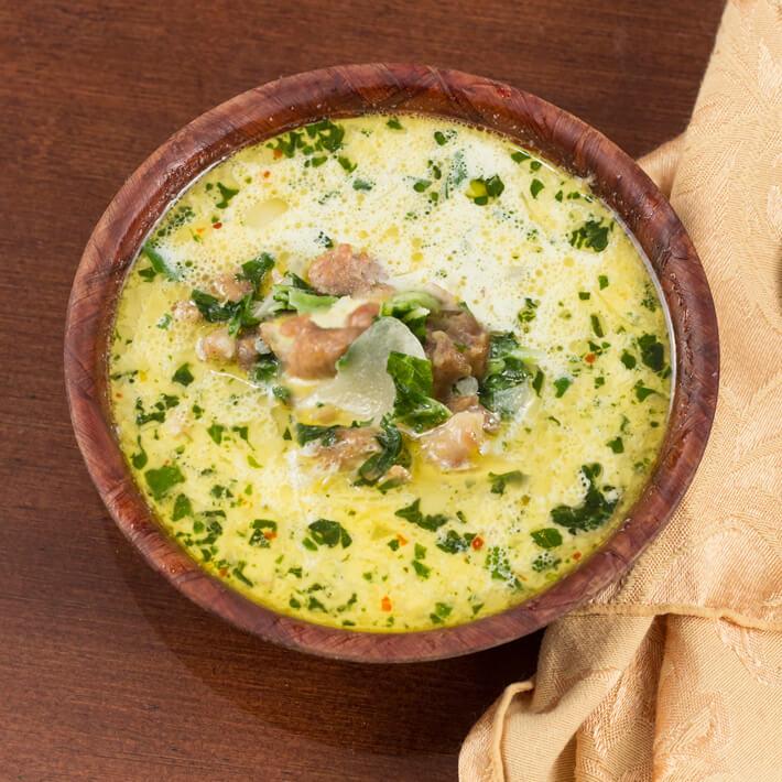 Instant Pot Cabbage Sausage Soup