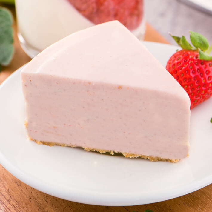 Low Carb Strawberry Mousse Pie four